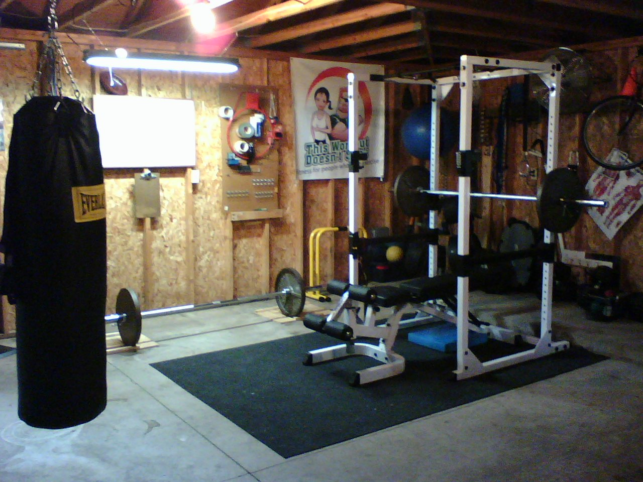 Home gym ideas garage budget workout rooms mathwatson